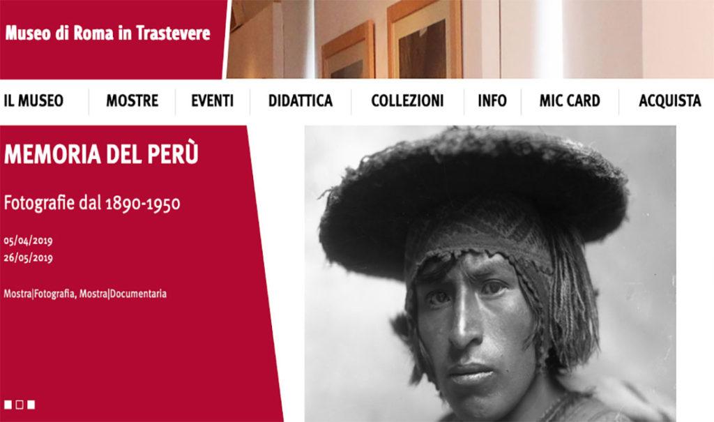 Memoria del Perù,  Fotografie dal 1890-1950